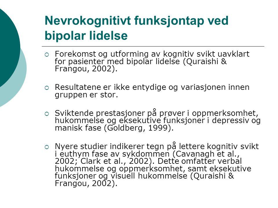 Nevrokognitivt funksjontap ved bipolar lidelse