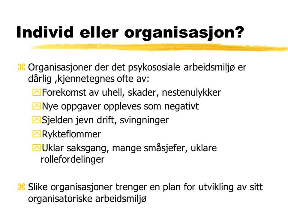 Individ eller organisasjon