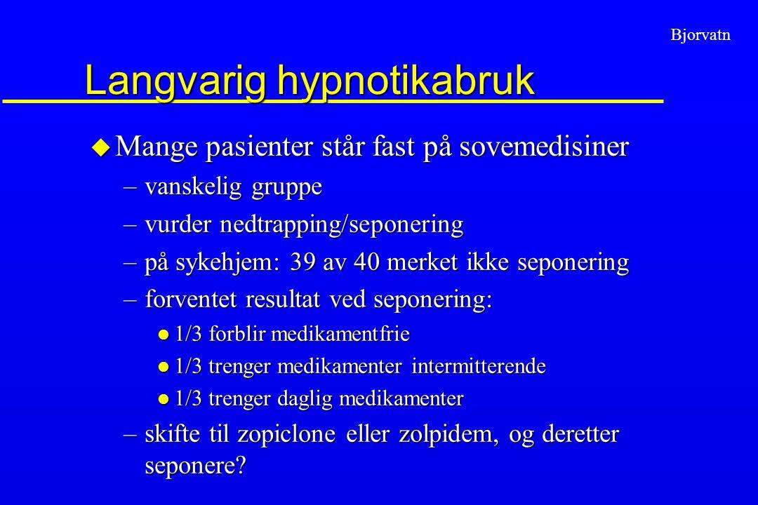 Langvarig hypnotikabruk