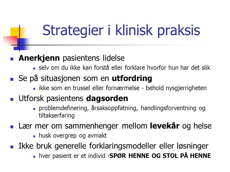 Strategier i klinisk praksis