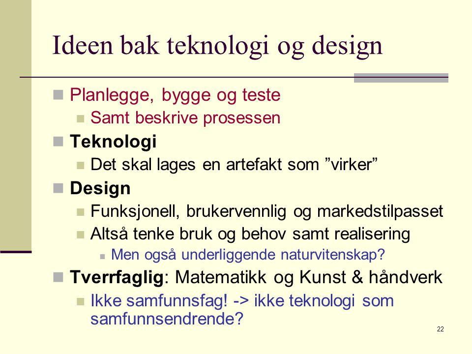 Ideen bak teknologi og design