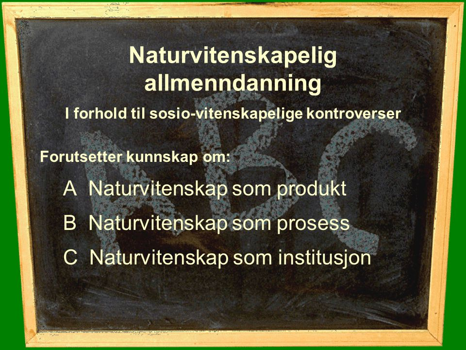 Naturvitenskapelig allmenndanning