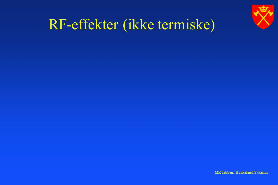 RF-effekter (ikke termiske)