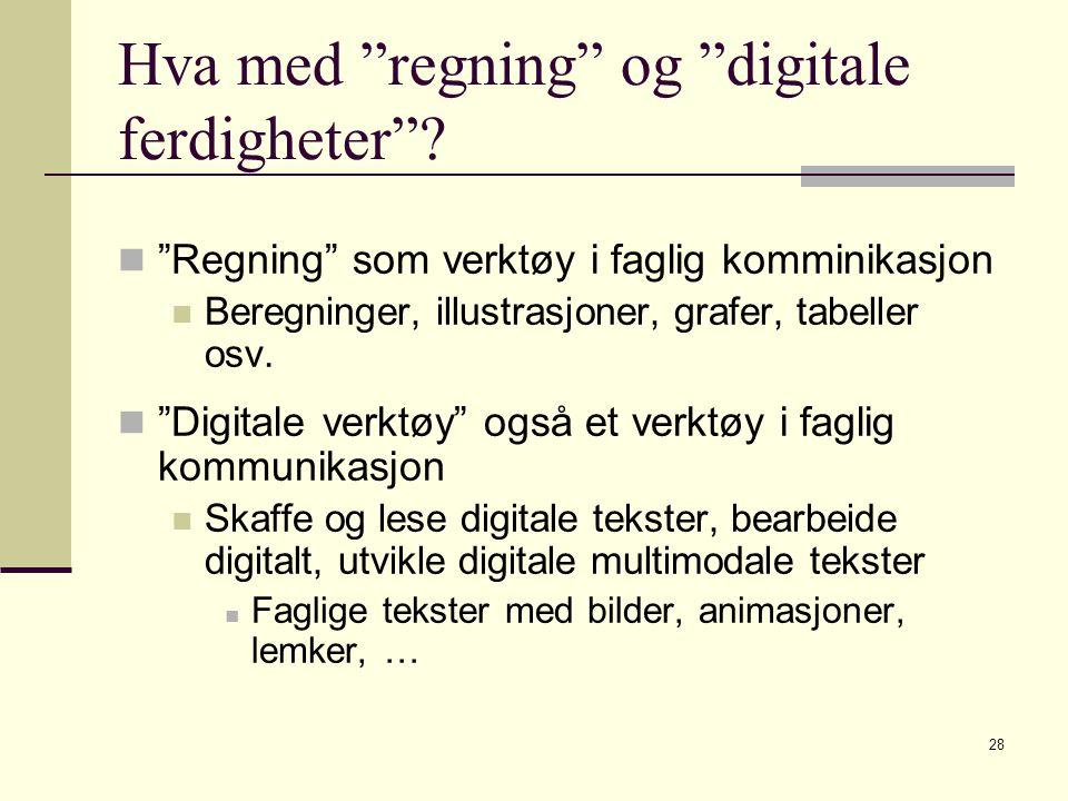 Hva med regning og digitale ferdigheter