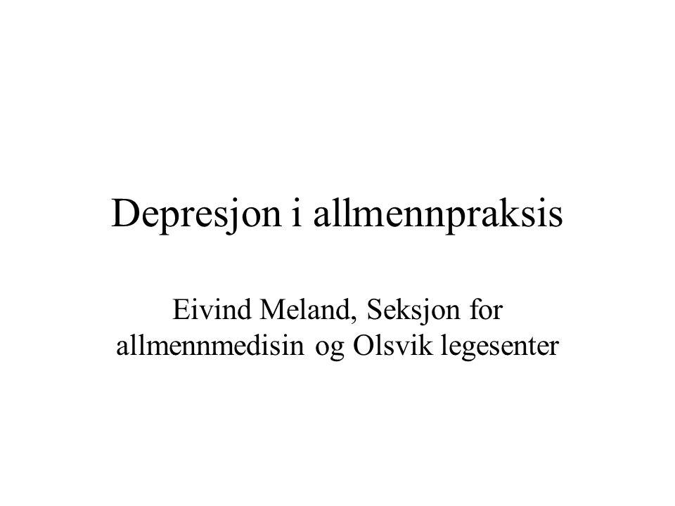 Depresjon i allmennpraksis
