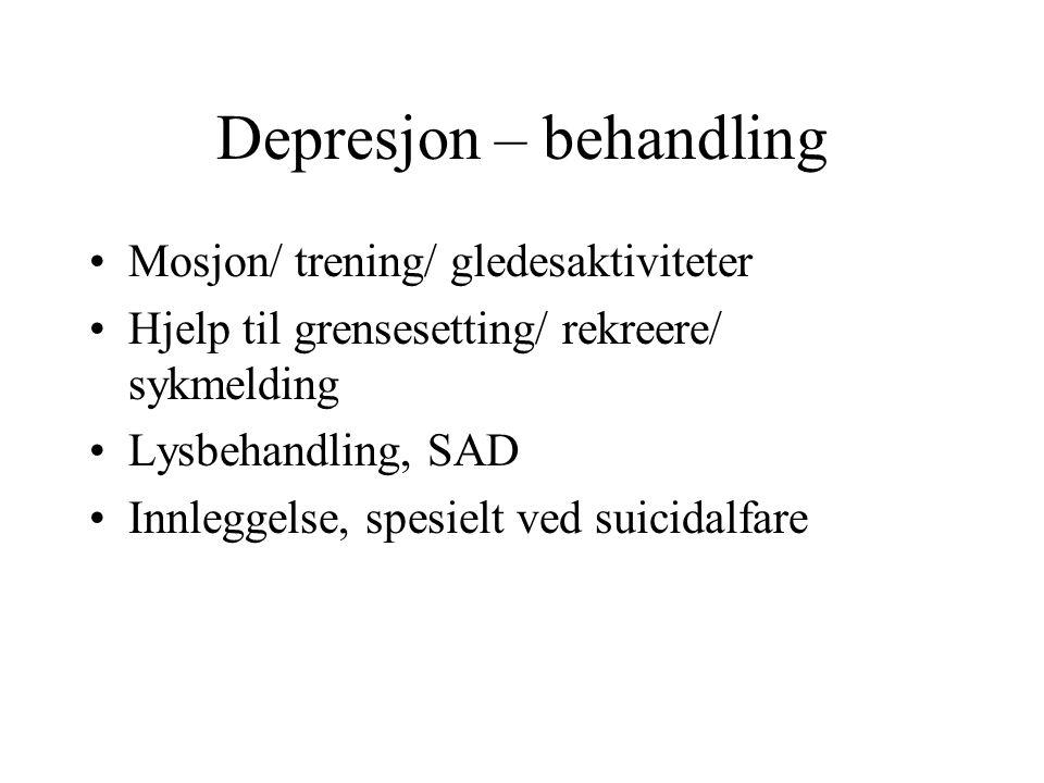 Depresjon – behandling