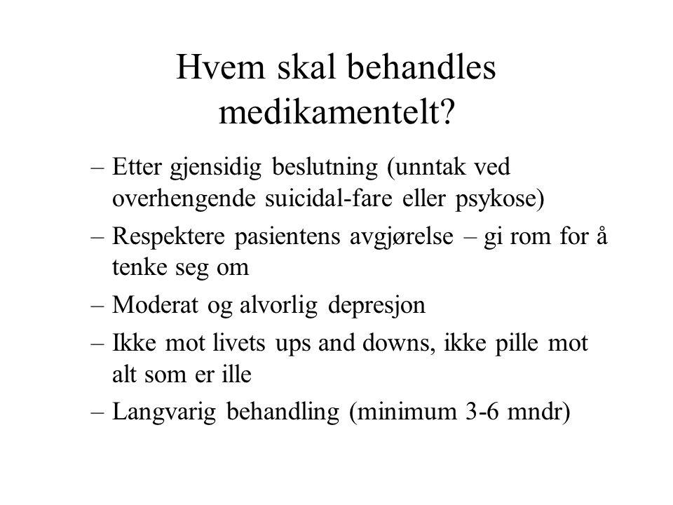 Hvem skal behandles medikamentelt