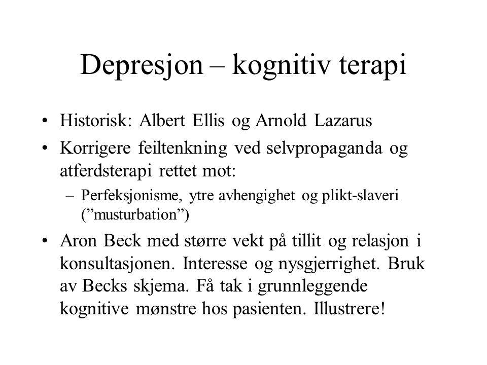 Depresjon – kognitiv terapi