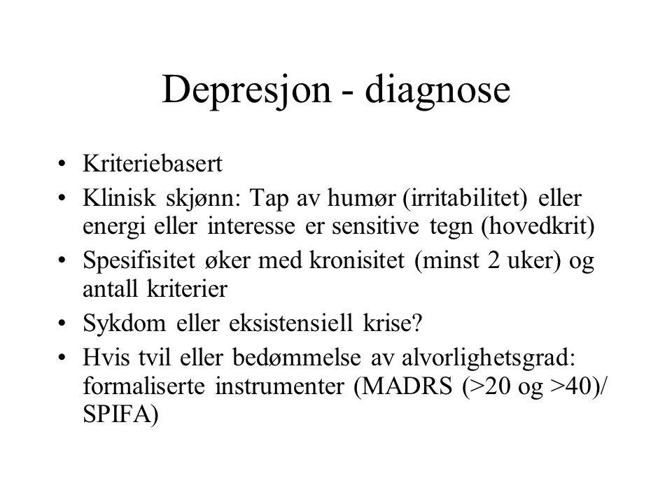 Depresjon - diagnose Kriteriebasert