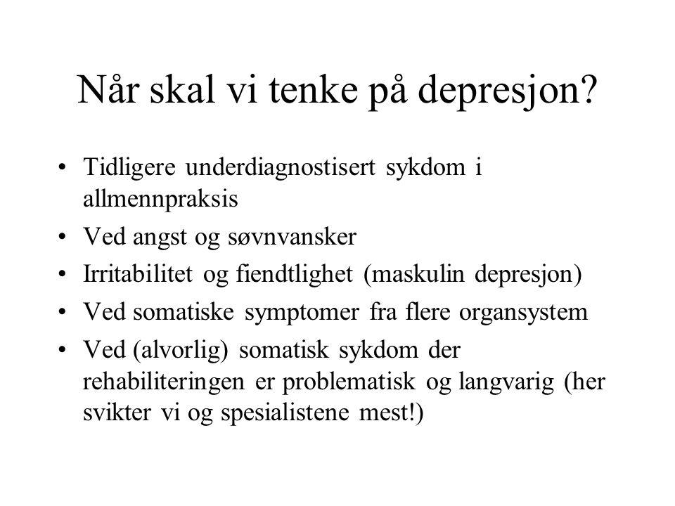 Når skal vi tenke på depresjon