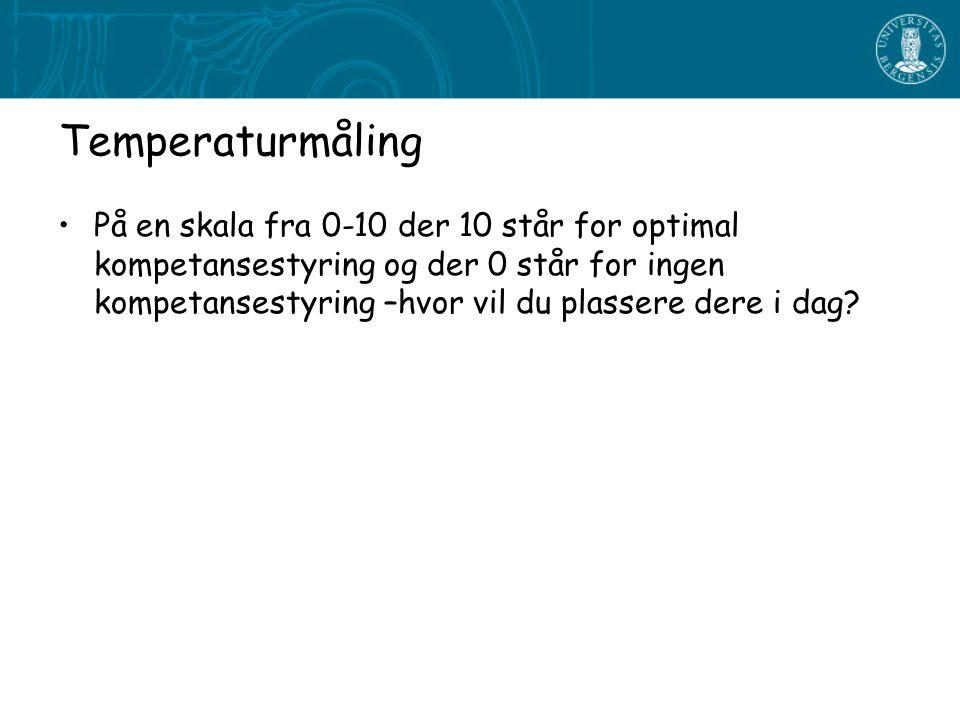 Temperaturmåling