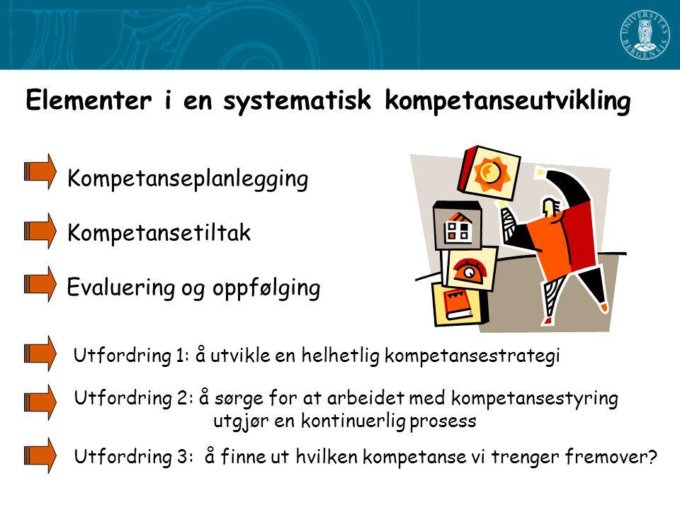 Elementer i en systematisk kompetanseutvikling