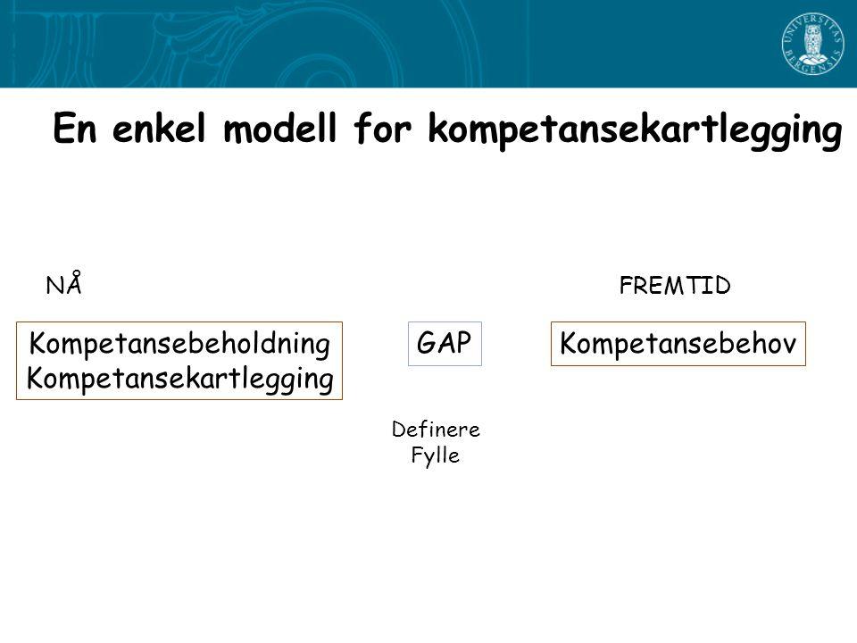 En enkel modell for kompetansekartlegging