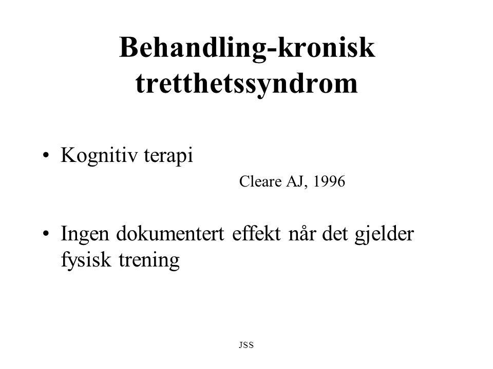 Behandling-kronisk tretthetssyndrom
