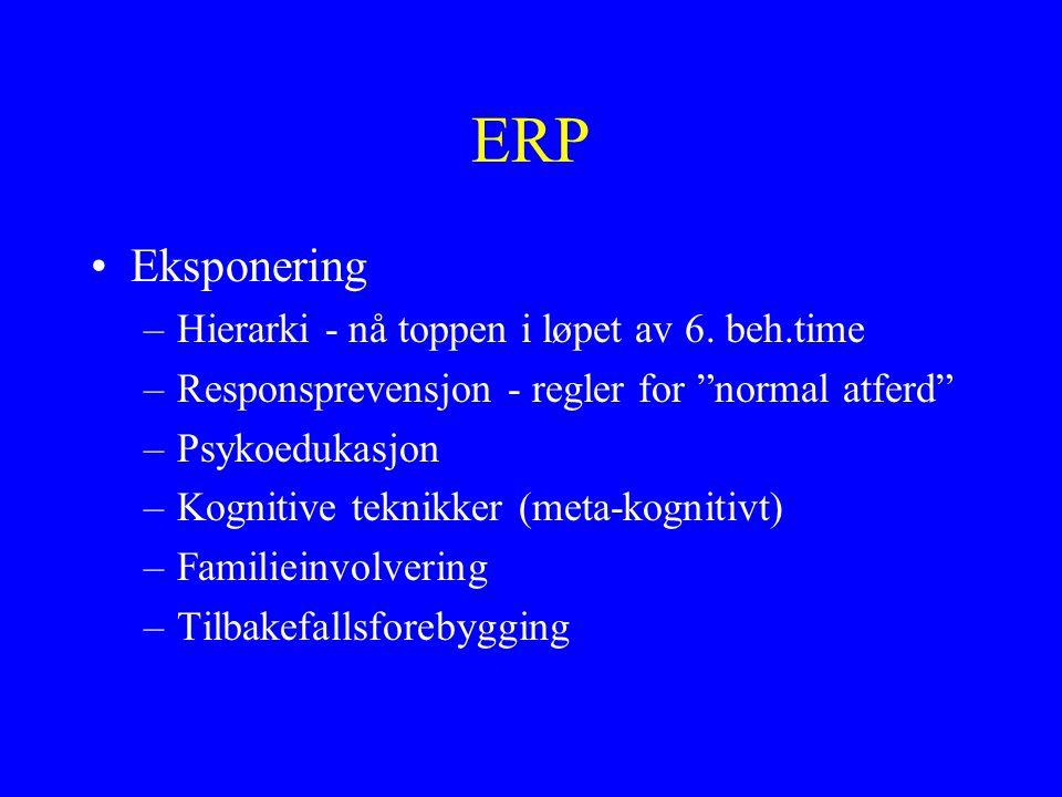 ERP Eksponering Hierarki - nå toppen i løpet av 6. beh.time