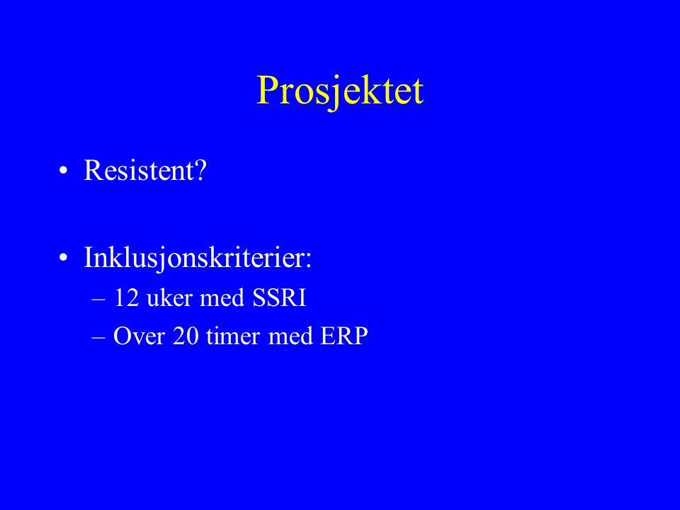Prosjektet Resistent Inklusjonskriterier: 12 uker med SSRI