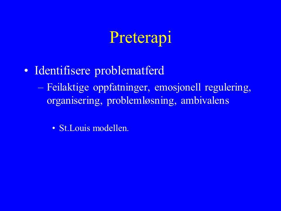 Preterapi Identifisere problematferd