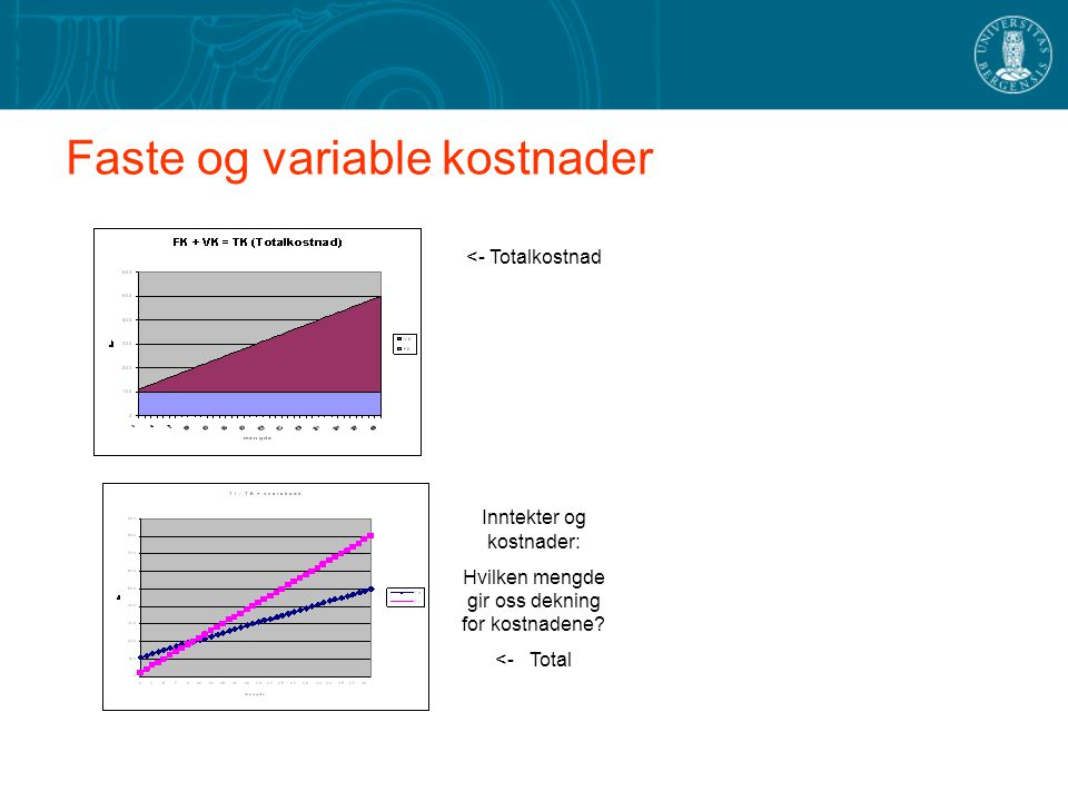 Faste og variable kostnader