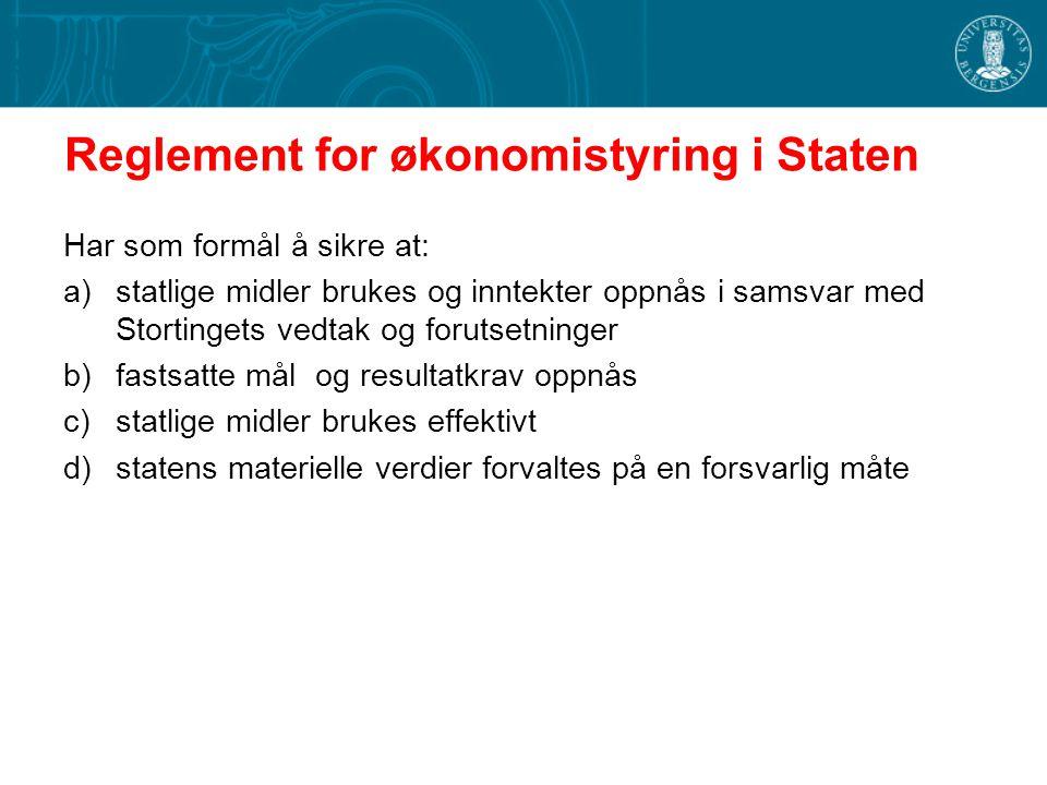 Reglement for økonomistyring i Staten