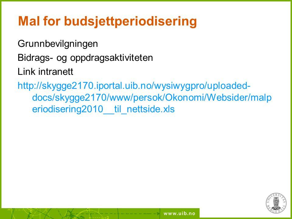 Mal for budsjettperiodisering