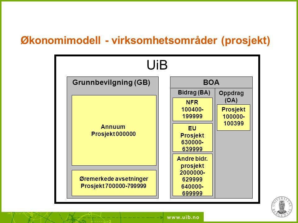 Økonomimodell - virksomhetsområder (prosjekt)