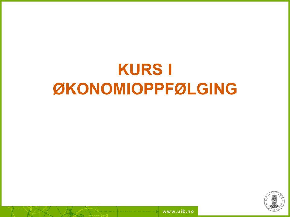 KURS I ØKONOMIOPPFØLGING