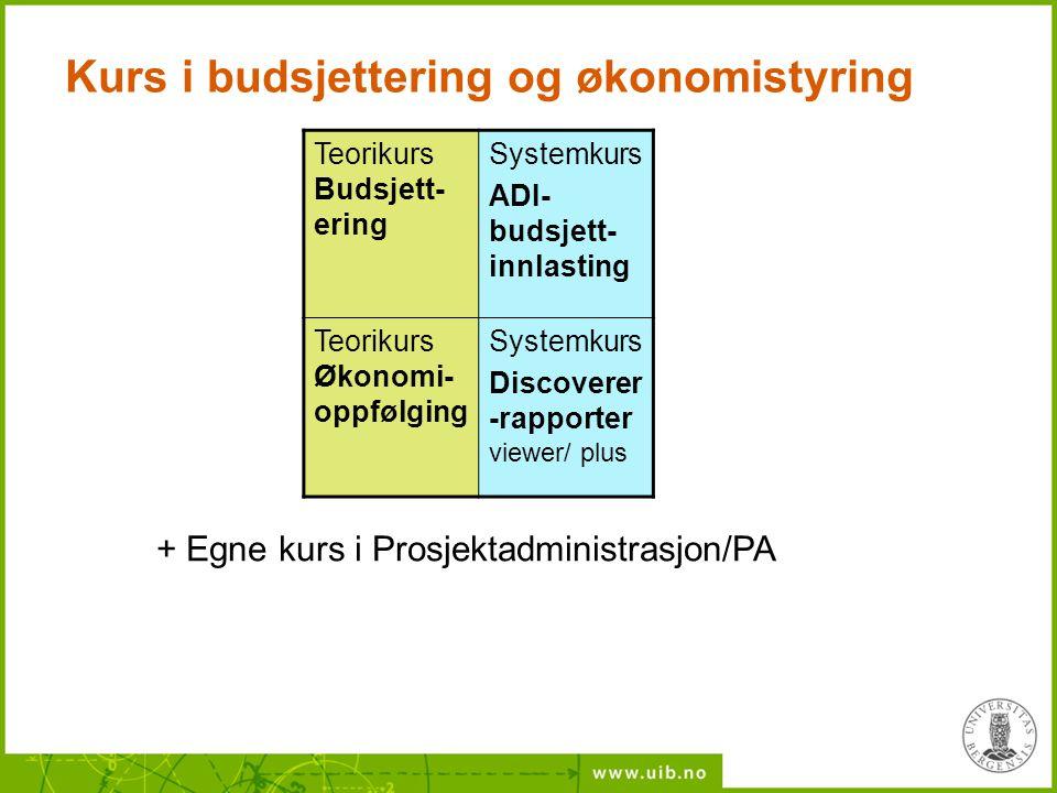Kurs i budsjettering og økonomistyring