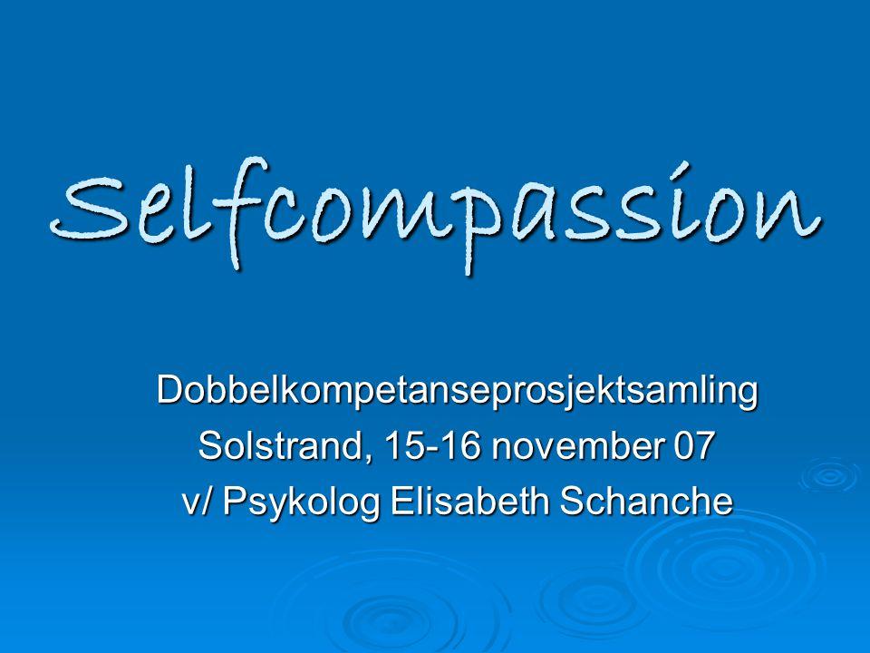Selfcompassion Dobbelkompetanseprosjektsamling