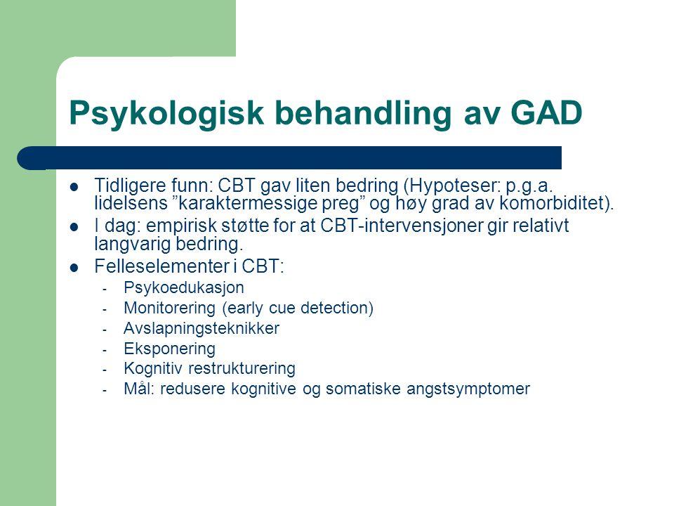 Psykologisk behandling av GAD