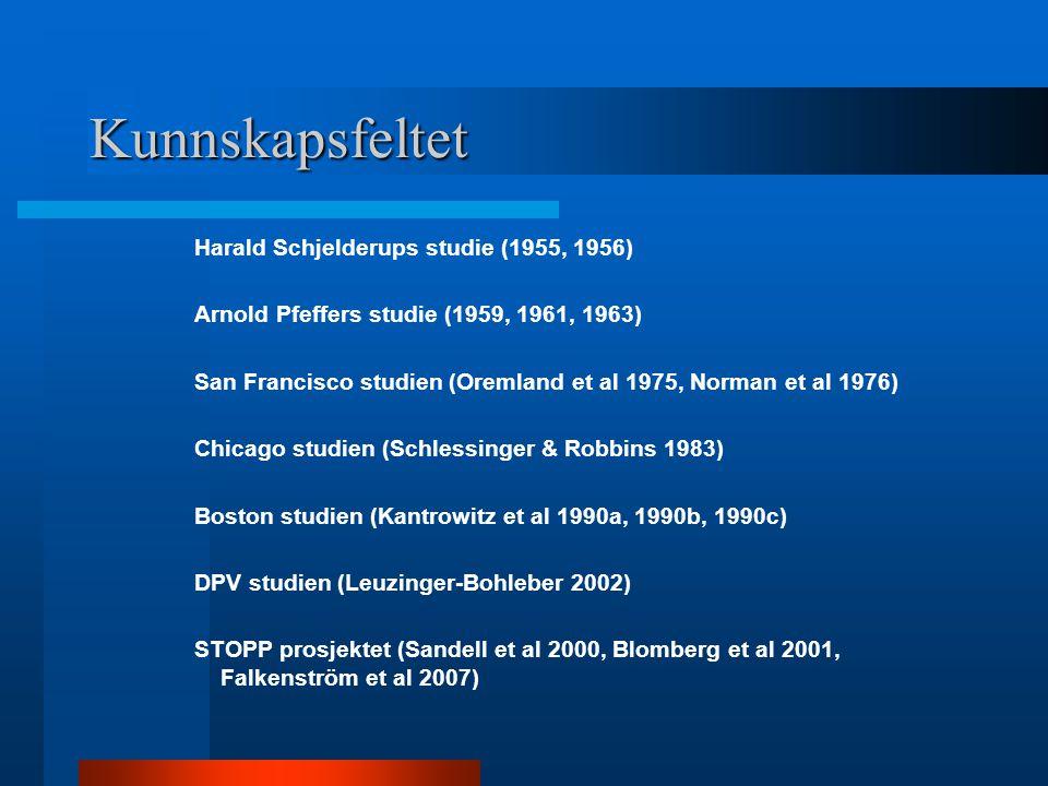 Kunnskapsfeltet Harald Schjelderups studie (1955, 1956)