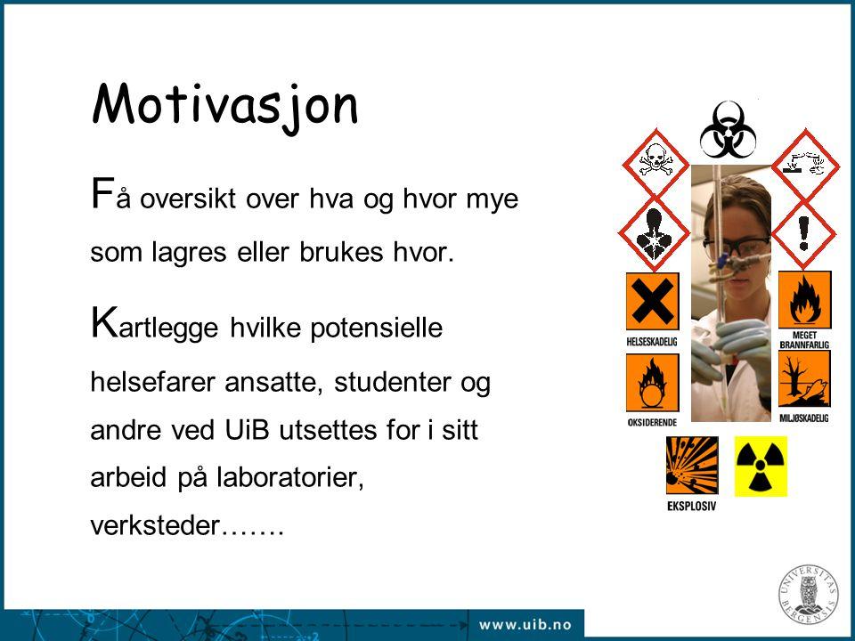 Motivasjon Få oversikt over hva og hvor mye som lagres eller brukes hvor.