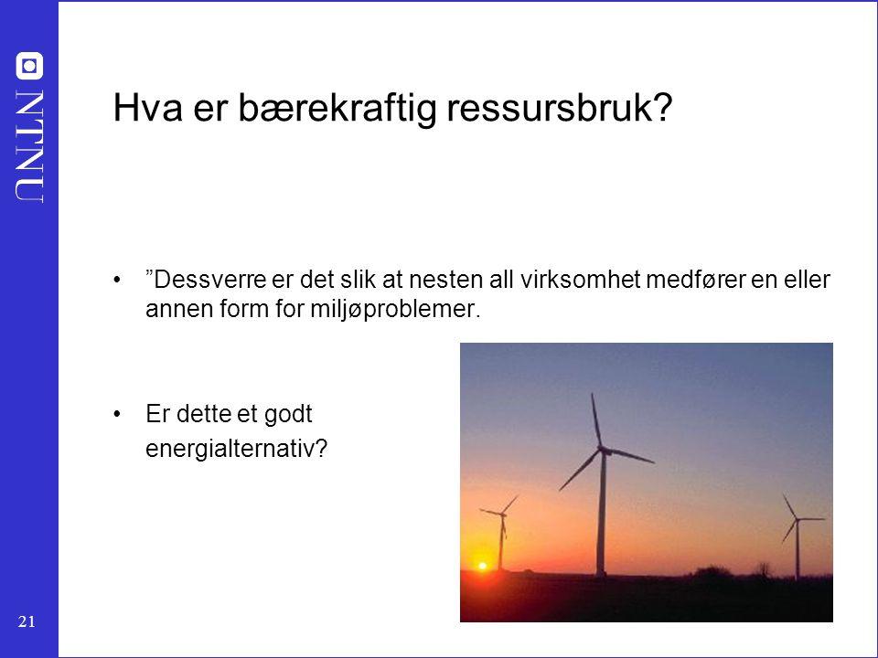 Hva er bærekraftig ressursbruk