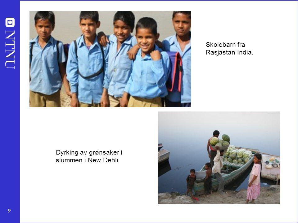 Skolebarn fra Rasjastan India.
