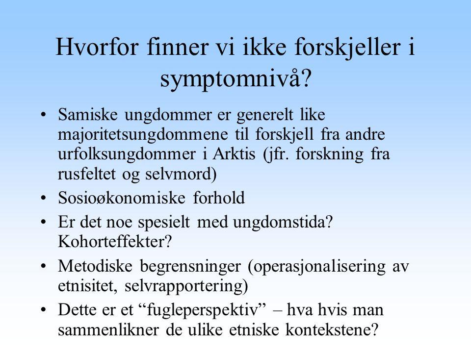 Hvorfor finner vi ikke forskjeller i symptomnivå