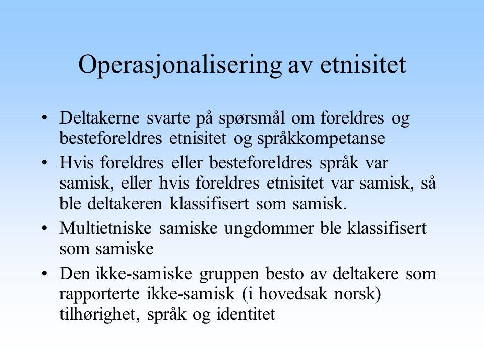 Operasjonalisering av etnisitet