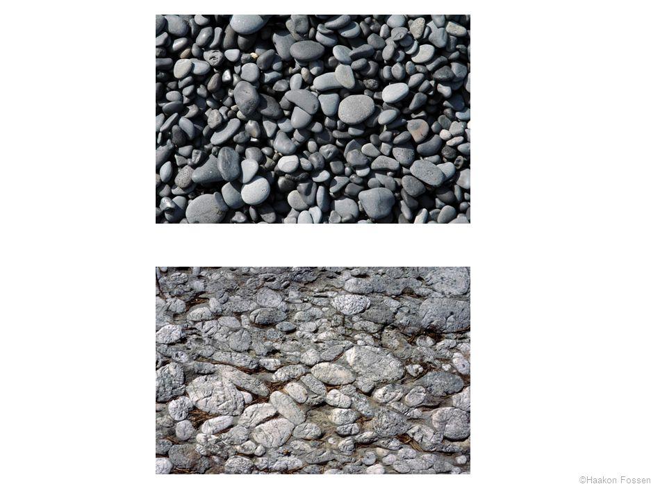 Det øverste bildet er fra en strand på SØ-Island, det nederste fra Ulven ved Os, Hordaland (Ulvenkonglomeratet)