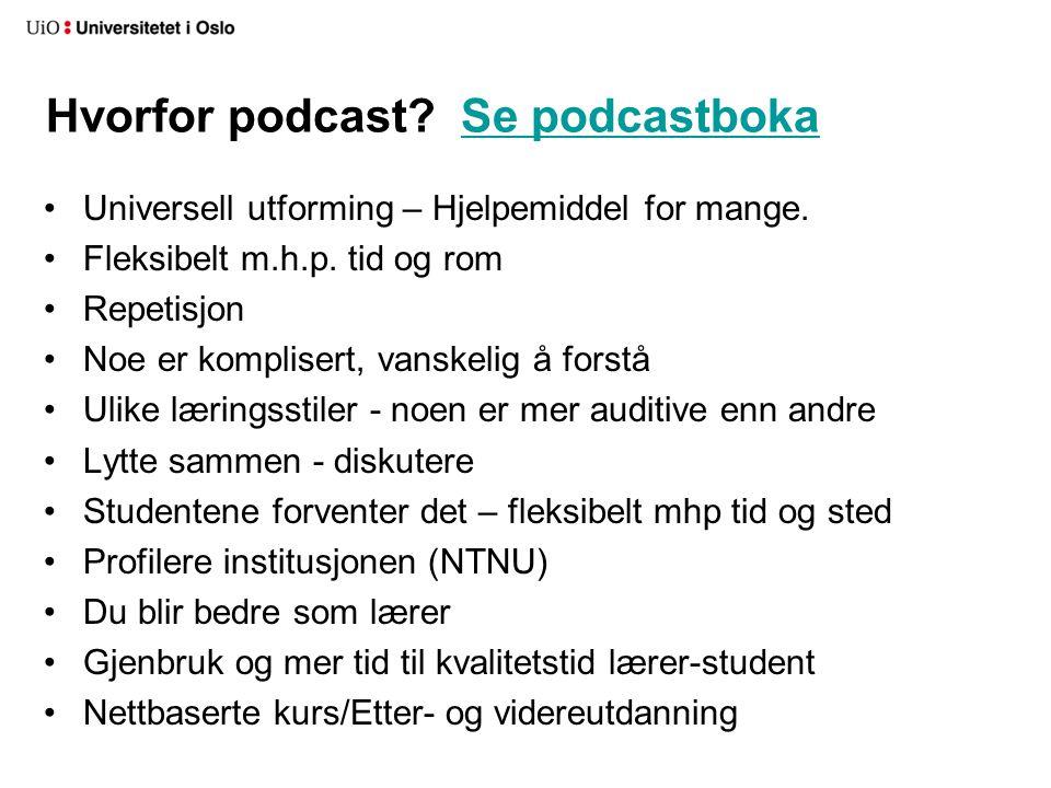Hvorfor podcast Se podcastboka