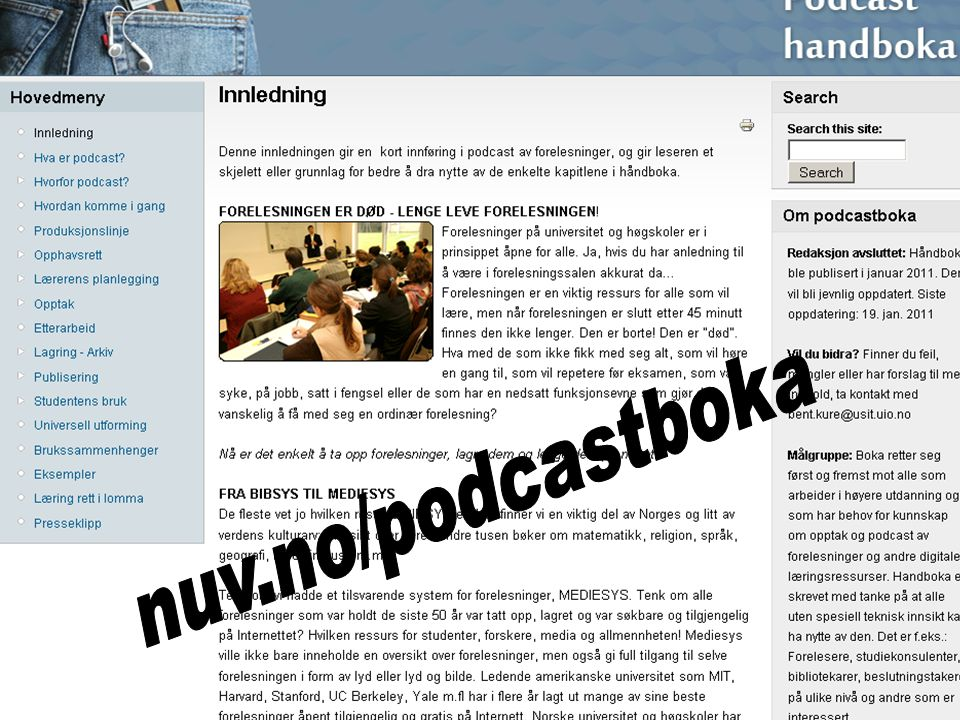 Podcasthåndboka nuv.no/podcastboka