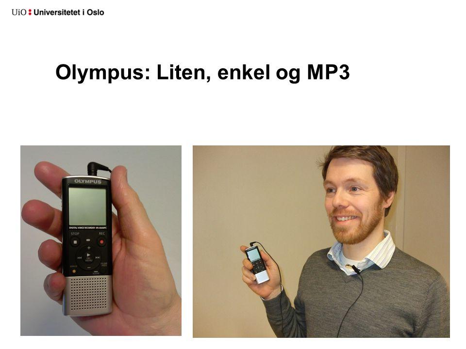 Olympus: Liten, enkel og MP3