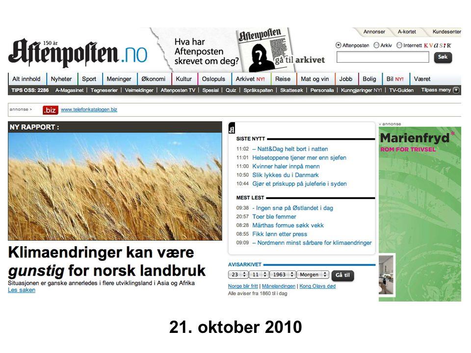 21. oktober 2010