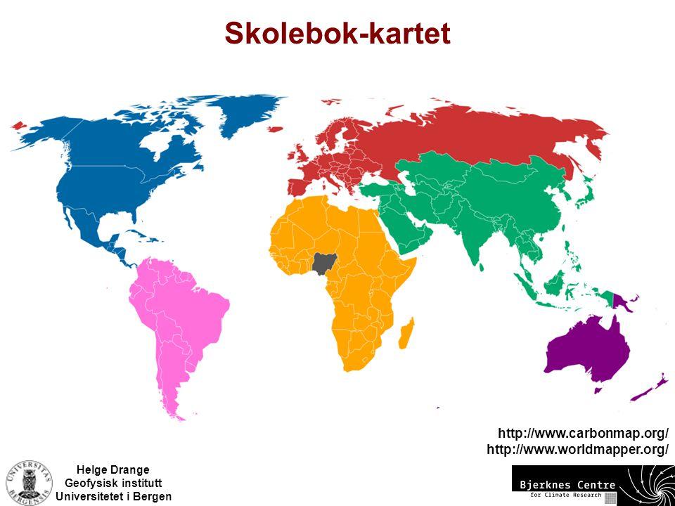 Skolebok-kartet http://www.carbonmap.org/ http://www.worldmapper.org/