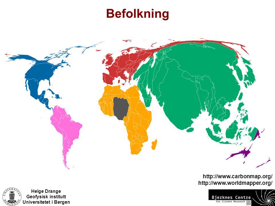 Befolkning http://www.carbonmap.org/ http://www.worldmapper.org/