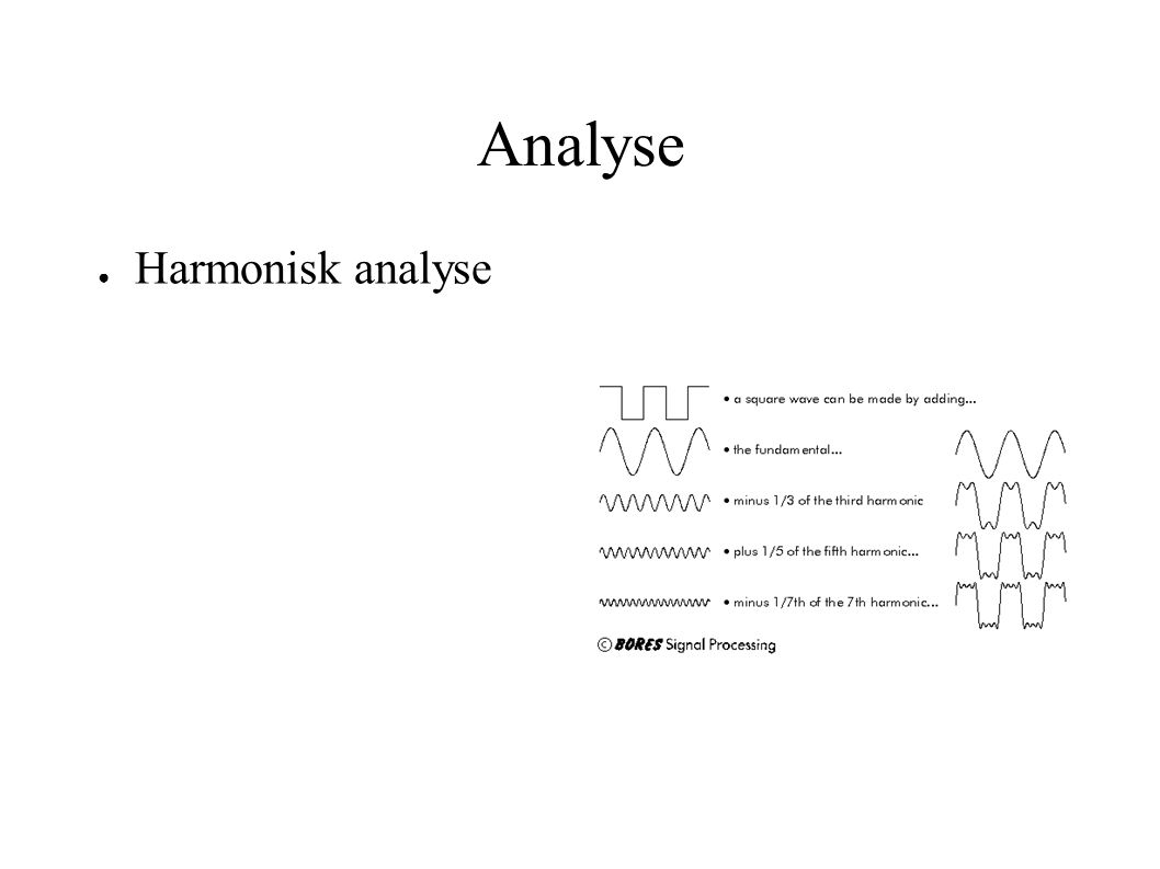 Analyse Harmonisk analyse 9x2 + 4y2 = 36 9x2 + 4y2 = 36