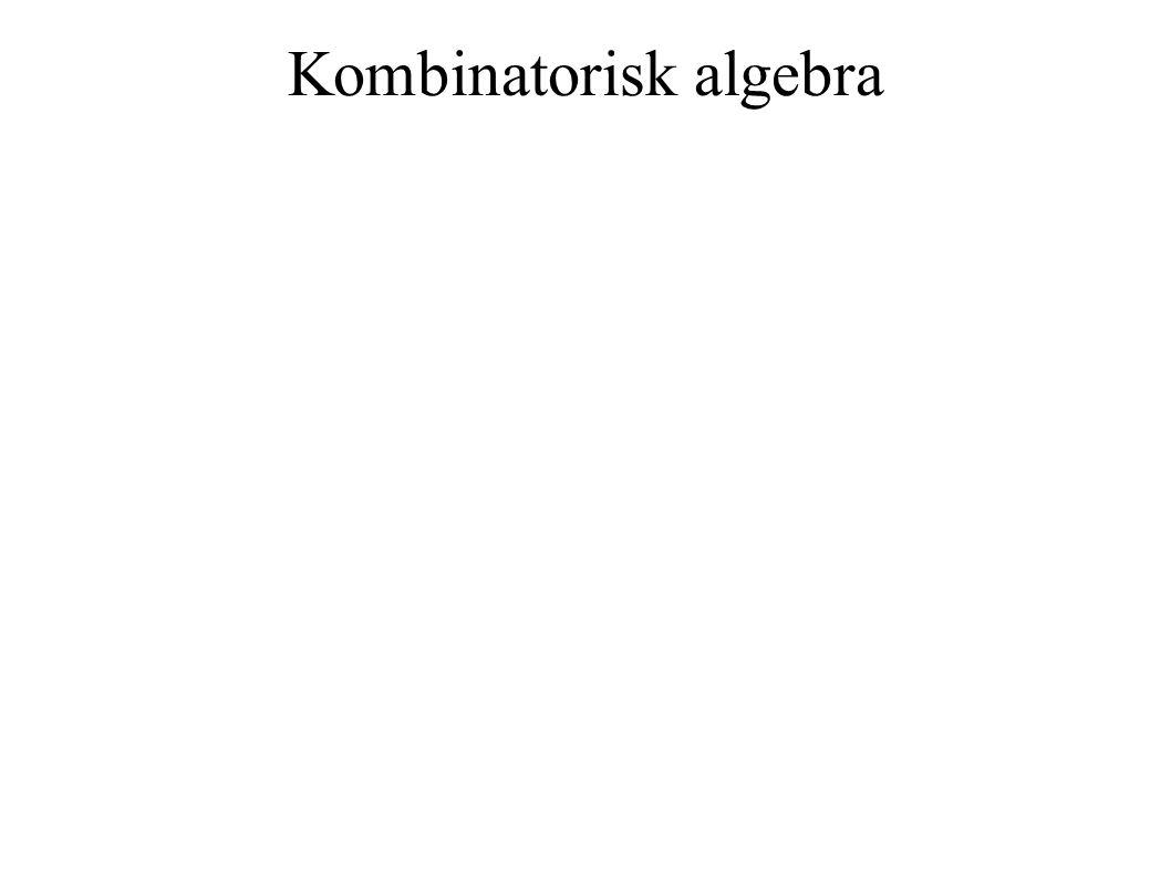 Kombinatorisk algebra