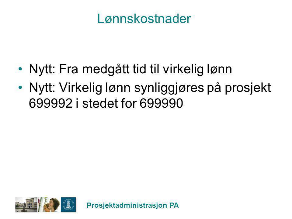 Lønnskostnader Nytt: Fra medgått tid til virkelig lønn.
