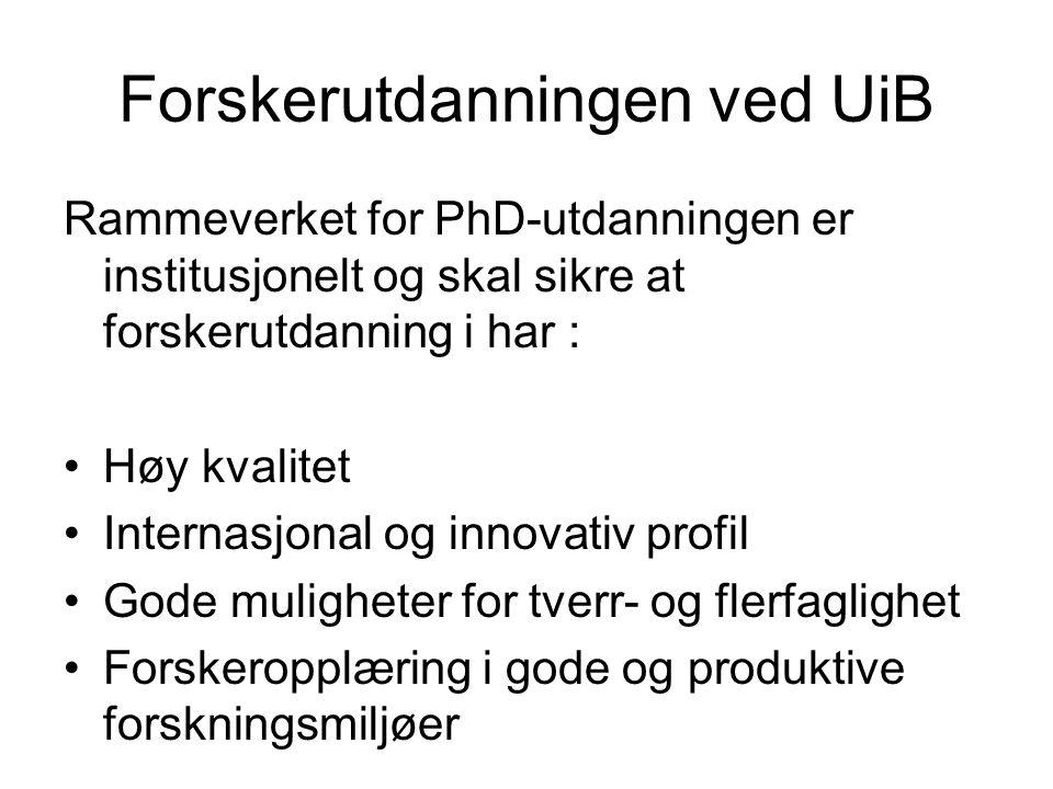 Forskerutdanningen ved UiB