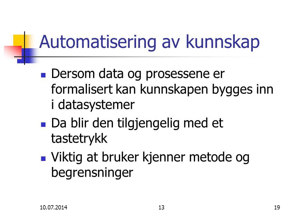 Automatisering av kunnskap