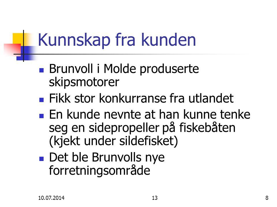 Kunnskap fra kunden Brunvoll i Molde produserte skipsmotorer