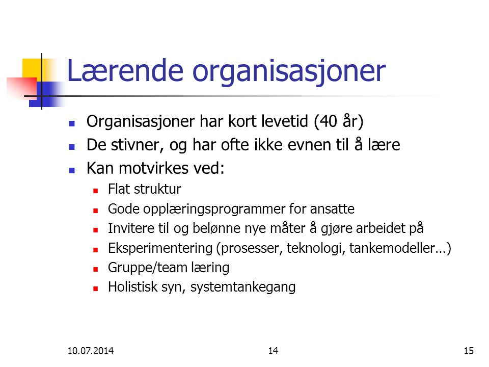 Lærende organisasjoner