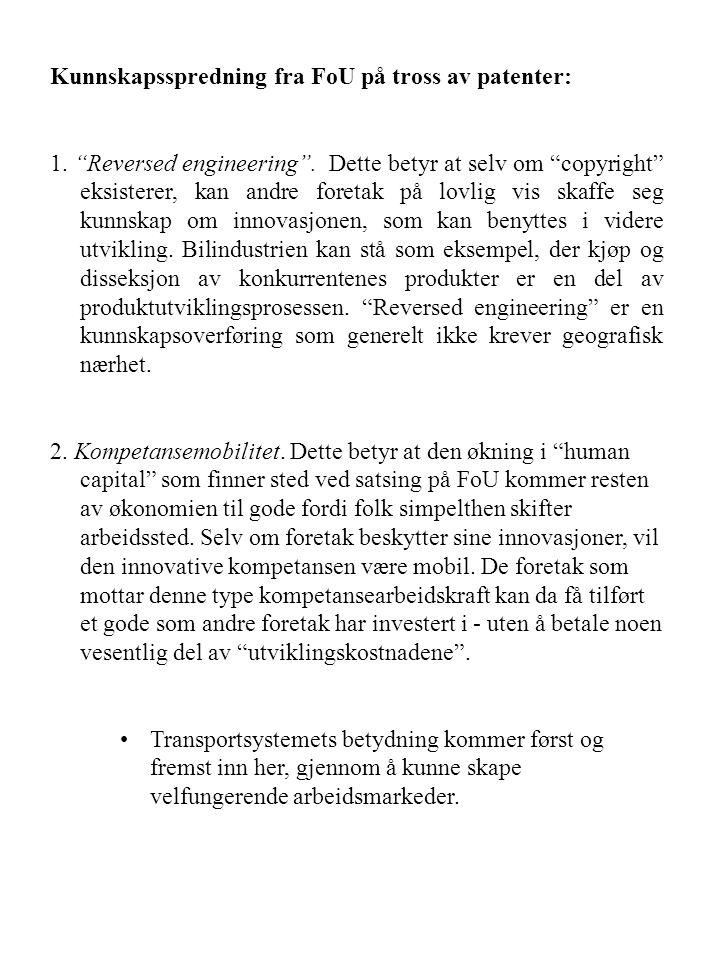 Kunnskapsspredning fra FoU på tross av patenter:
